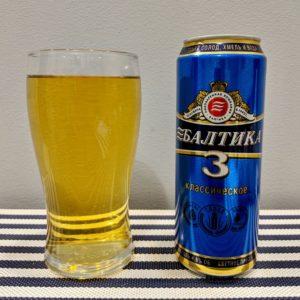 Пиво Балтика 3 в стакане