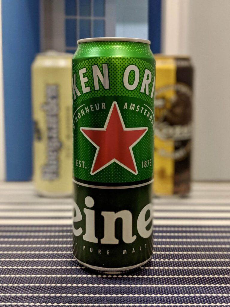 банка пива хейнекен