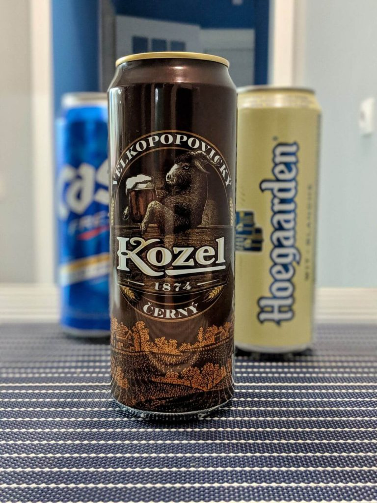 банка пива козел темное