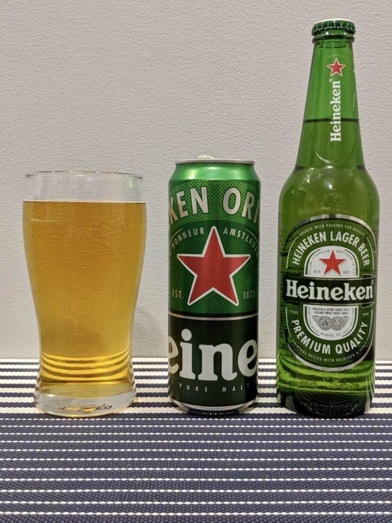 бутылка и стакан хейнекен