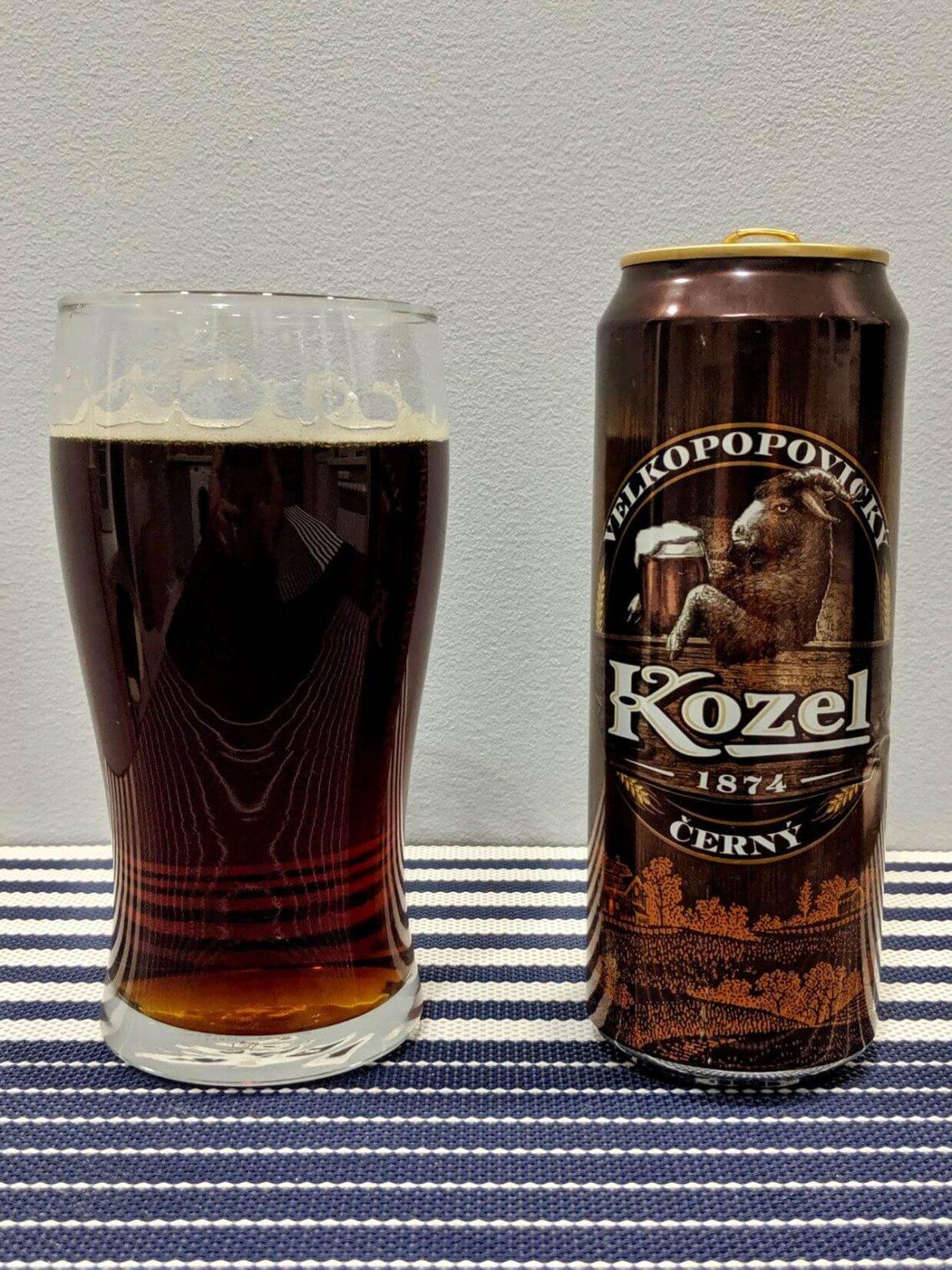 пиво козел темное в стакане