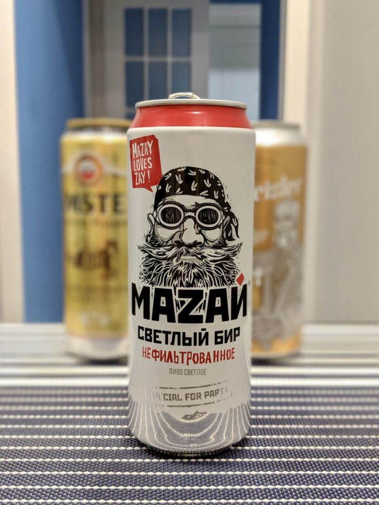 банка пива мазай