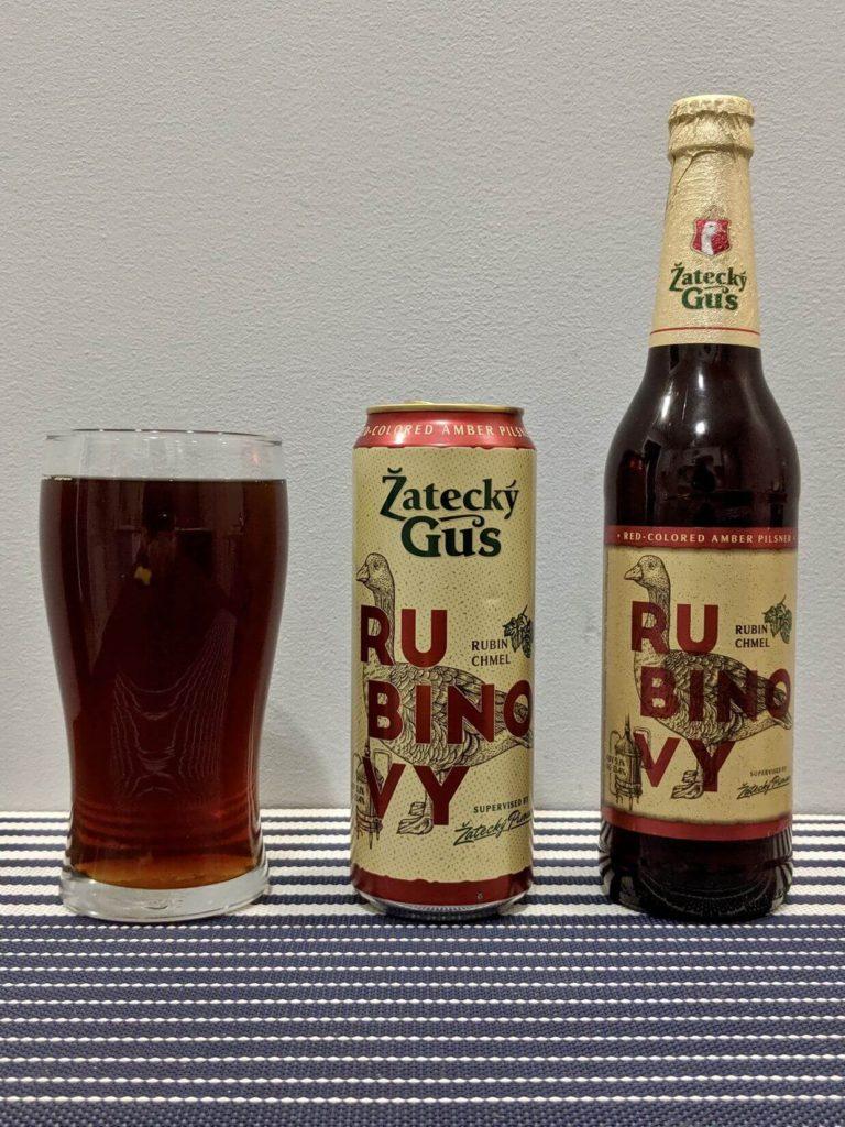 бутылка и стакан жатецкий гусь рубиновый