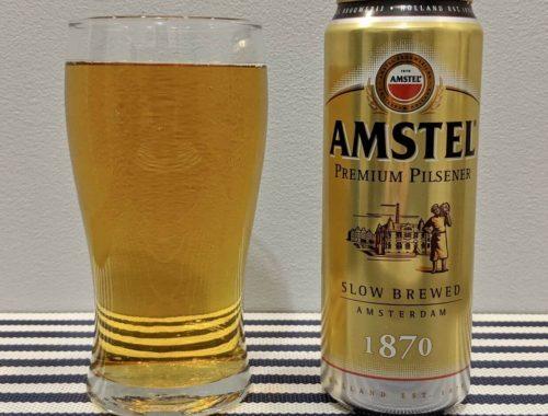пиво амстел пилснер в стакане
