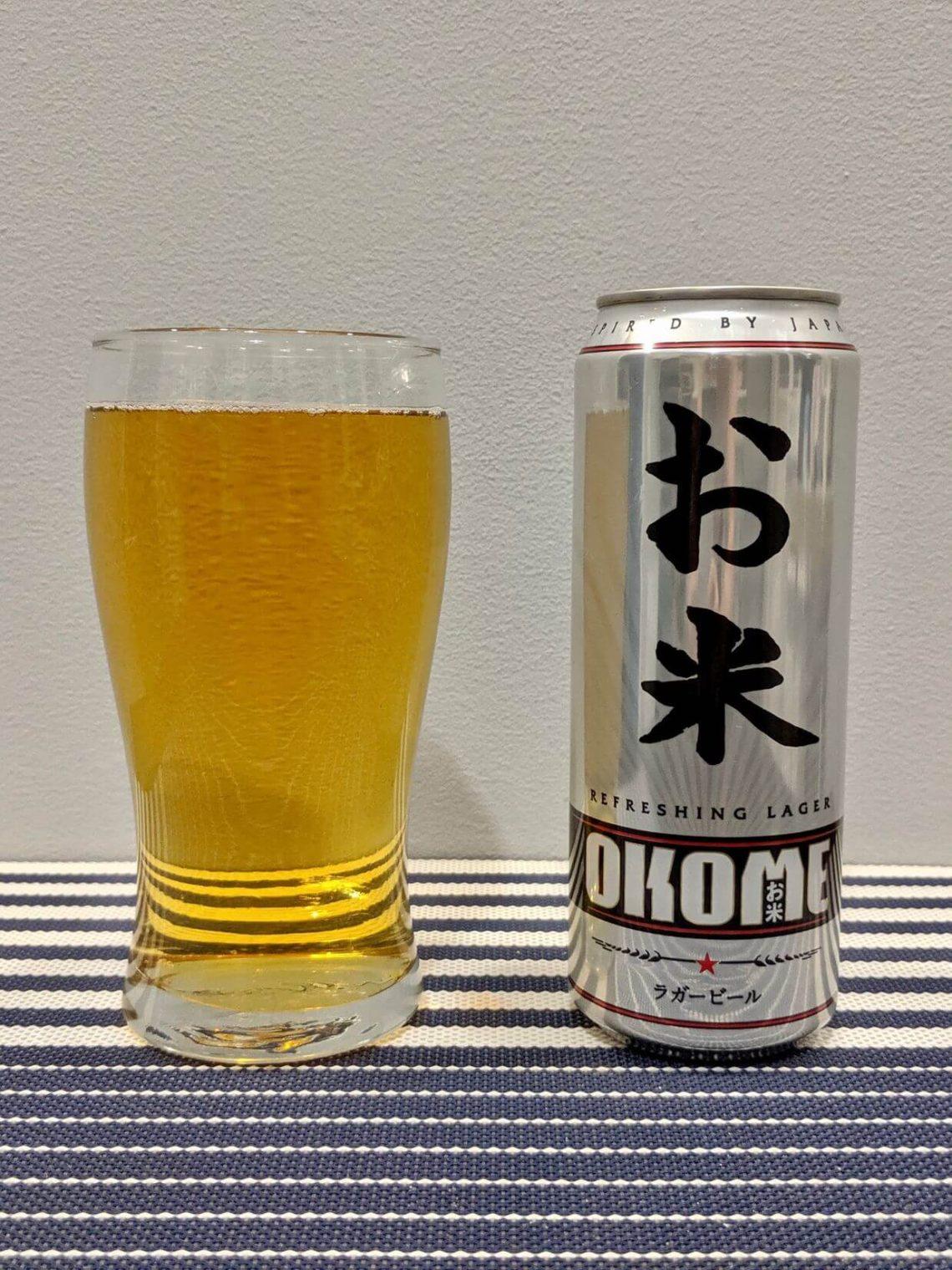 пиво окомэ в стакане
