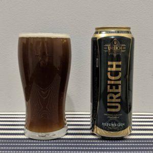 пиво урайх дункель в стакане